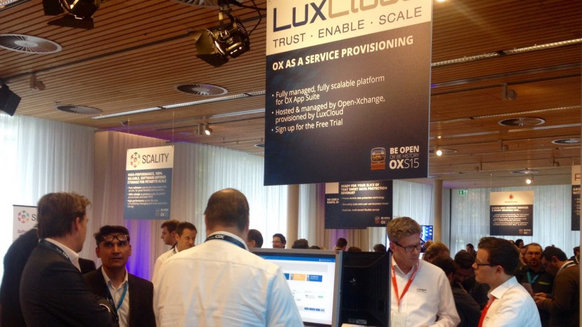LuxCloud booth at the OXS15 Open-Xchange summit 2015